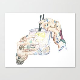 Hipster Cocktail Canvas Print