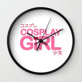 Cosplay Girl Wall Clock