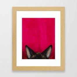Snowshoe Cat Ears Framed Art Print