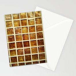 Thee Gold Tiles Stationery Cards
