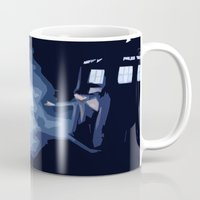 river song Mugs featuring The Doctor and River Song by Laura