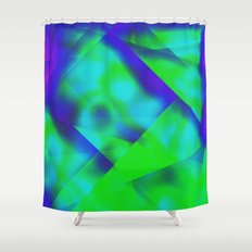 Green Color Package Shower Curtain