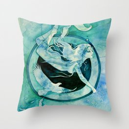 Goddess of Scorpio - A Water Element Throw Pillow