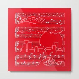 Moonlight Sonata Red Metal Print