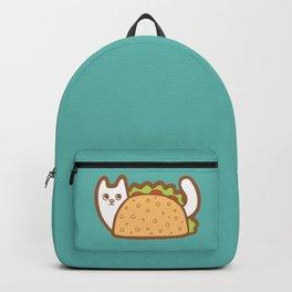 Taco Cat White Backpack