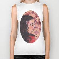 snow white Biker Tanks featuring Snow White by Sarah Larguier