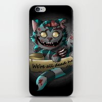 gore iPhone & iPod Skins featuring Chesire cat gore by trevacristina