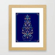 La Vie & La Mort – Navy Framed Art Print