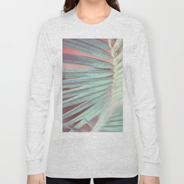 Tropical Leaf in Pink and Aqua Long Sleeve T-shirt