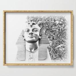 The Sphinx portrait Cleopatra's needle London UK Serving Tray