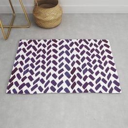 Cute watercolor knitting pattern - puple Rug