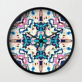 Quadrants of Color Wall Clock