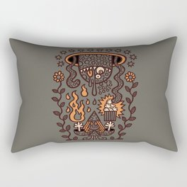 Grand Magus Summons Entity With Dark Popcorn Power Rectangular Pillow