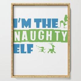 Christmas Evil Elf Santa Claus List Gift Serving Tray