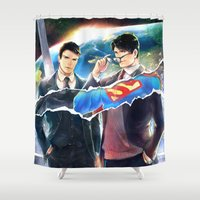 heroes Shower Curtains featuring Heroes by Hai-ning