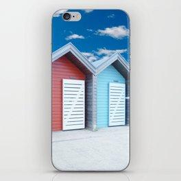 'Beach huts' Northumberland iPhone Skin