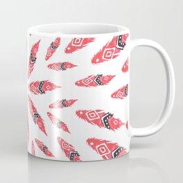 red tribal watercolor feather Coffee Mug