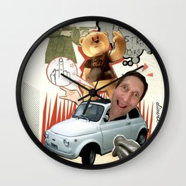 COLLAGE: Insult Wall Clock