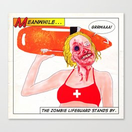 Zombie Lifeguard Canvas Print