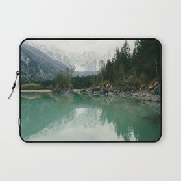 Turquoise lake - Landscape and Nature Photography Laptop Sleeve