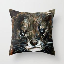 European Mink Throw Pillow