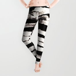 Abstract Brush Strokes Leggings