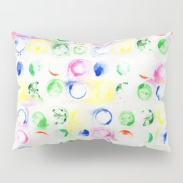 Buttons by Watercolor Pillow Sham