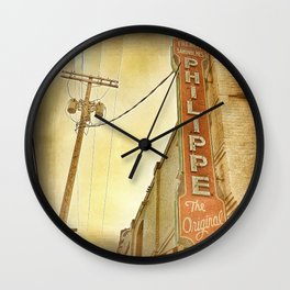 Phillipe's French Dip - Los Angeles, CA Wall Clock