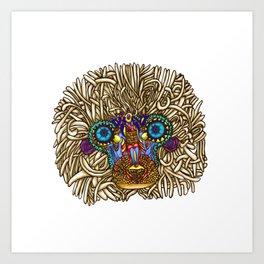 maybe its Rafiki // intricate baboon Art Print