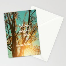 Shine Bright Like the Sunshine Stationery Cards