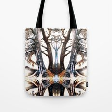 Collection of Trees: mirrored version Tote Bag