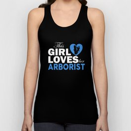 the girl loves arborist hipster t-shirts Unisex Tank Top