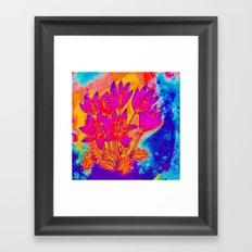 Colchicum Flower Painting Framed Art Print