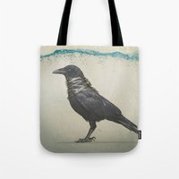 band Tote Bags featuring Raven Band by Vin Zzep