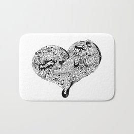Heartfull graffiti heart Bath Mat