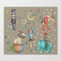 circus Canvas Prints featuring Circus by Catru