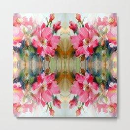 Floral Ribbon Metal Print