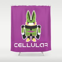 android Shower Curtains featuring Perfect Android by thom2maro