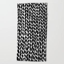 Hand Knit Zoom Beach Towel