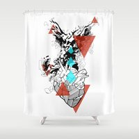 paramore Shower Curtains featuring Wounds Will Heal by DrøpDeadRian