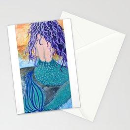 Mermaid, mermaid art, mermaid painting, ocean, mermaid decor Stationery Cards