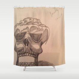 Elementary skull Shower Curtain