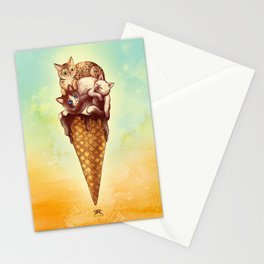 Cats Cream Stationery Cards