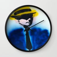 suits Wall Clocks featuring SUITS by Clay Bakkum