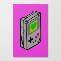 gameboy Canvas Prints featuring Gameboy Love by Artistic Dyslexia
