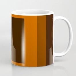 Dark Orange Square Design Coffee Mug