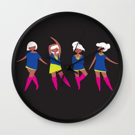 Neon Ladies Wall Clock