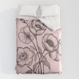 Palid Flowers  Duvet Cover