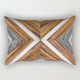 Urban Tribal Pattern 4 - Wood Rectangular Pillow