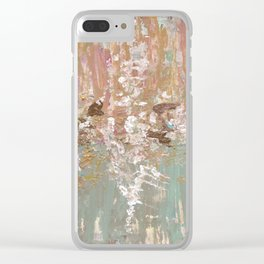Spring Poetry - Abstract Art Clear iPhone Case